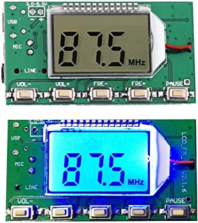 iHaospace Digital FM Transmitter Stereo Frequency Modulation DSP PLL 76.0 108.0MHz Wireless Module LCD Display