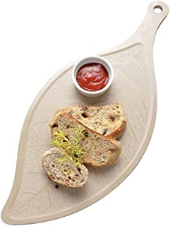 ERTONGHUANBAOCANJU Leaf Breakfast Tray Fruit Plate Easy Clean Rice Shell ECO-Friendly Anti-Mildew Cutting Board Creative