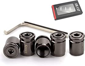 Xuxu521 Car Tire Valve Stem Caps(5pcs) Anti-Theft (Black)