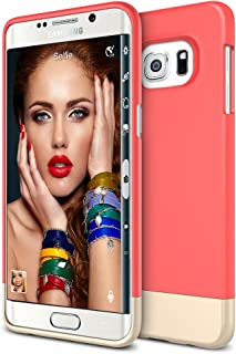 Galaxy S6 Edge Plus Case, Maxboost [Vibrance Series] for Samsung Galaxy S6 Edge+ 2015 Protective Soft-Interior Scratch Protection [Slider Style]-Italian Rose/Champagne Gold