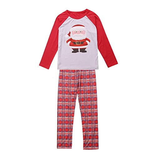 Family Matching Christmas Pajamas Stripes Deer and Santa Claus Pajamas for  Kids Mom and Dad One 8dbf8faf7