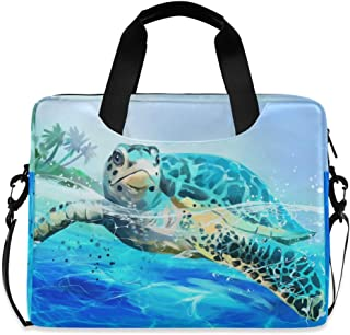 C COABALLA Burnt Orange,Swimming Turtles and Crabs with Laptop Sleeve Case Water-Resistant Protective Cover Portable Computer Carrying Bag Pouch for Laptop AM006295 13 inch//13.3 inch