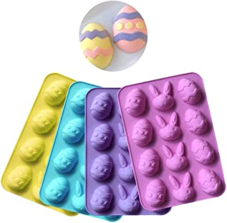 12 Cavities Easter Egg Silicone Chocolate Mold DIY Baking Cake Mold Candy Making Molds