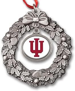 Indiana University Block IU Wreath Charm Ornament IUOR2331 IMC-Retail