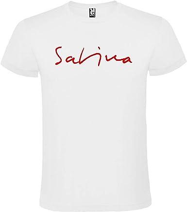 ROLY Camiseta Blanca con Logotipo de Joaquín Sabina Hombre 100% Algodón Tallas SML XL XXL Mangas Cortas