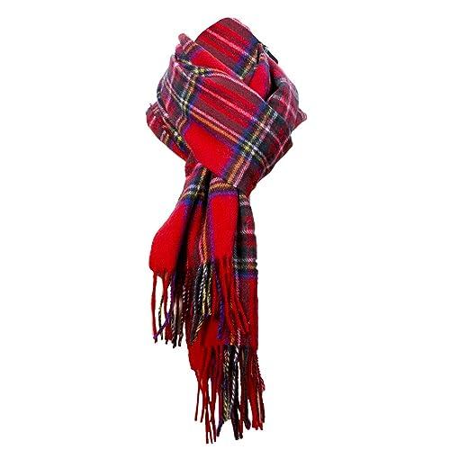 e5bf9b3738d Royal Stewart Tartan Scarf red scarf plaid check scarf Scottish scarf 100%