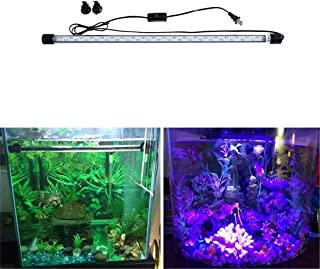 Double Row Fish Tank Light 3 Colors Changing Lamp LED Aquarium Lighting,35-140cm/14-55in,110cm/43in