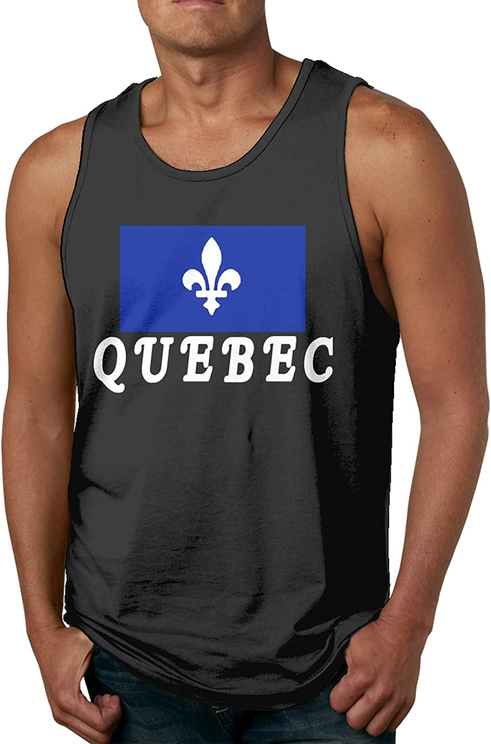 Quebec Emblem Mens Slimming Compression C Sleeveless excellence Max 42% OFF Muscle Tank