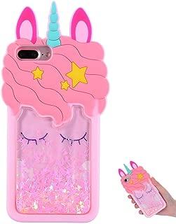 TopSZ Quicksand Unicorn Bling Case for iPhone 8 Plus/7 Plus/6 Plus 5.5