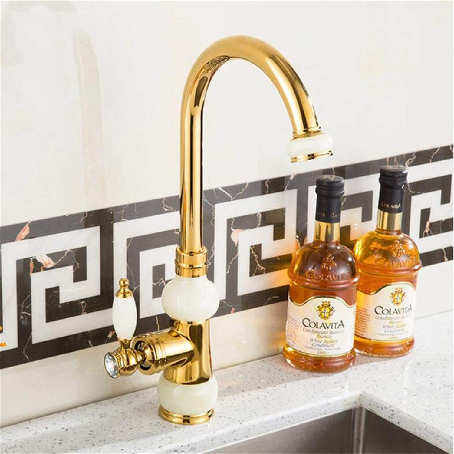 360 Degree Swivel Basin Faucets Euro gold Washbasin Faucet Luxury Tall Taps Single Handle Vanity Single Hole Mixer Water Taps