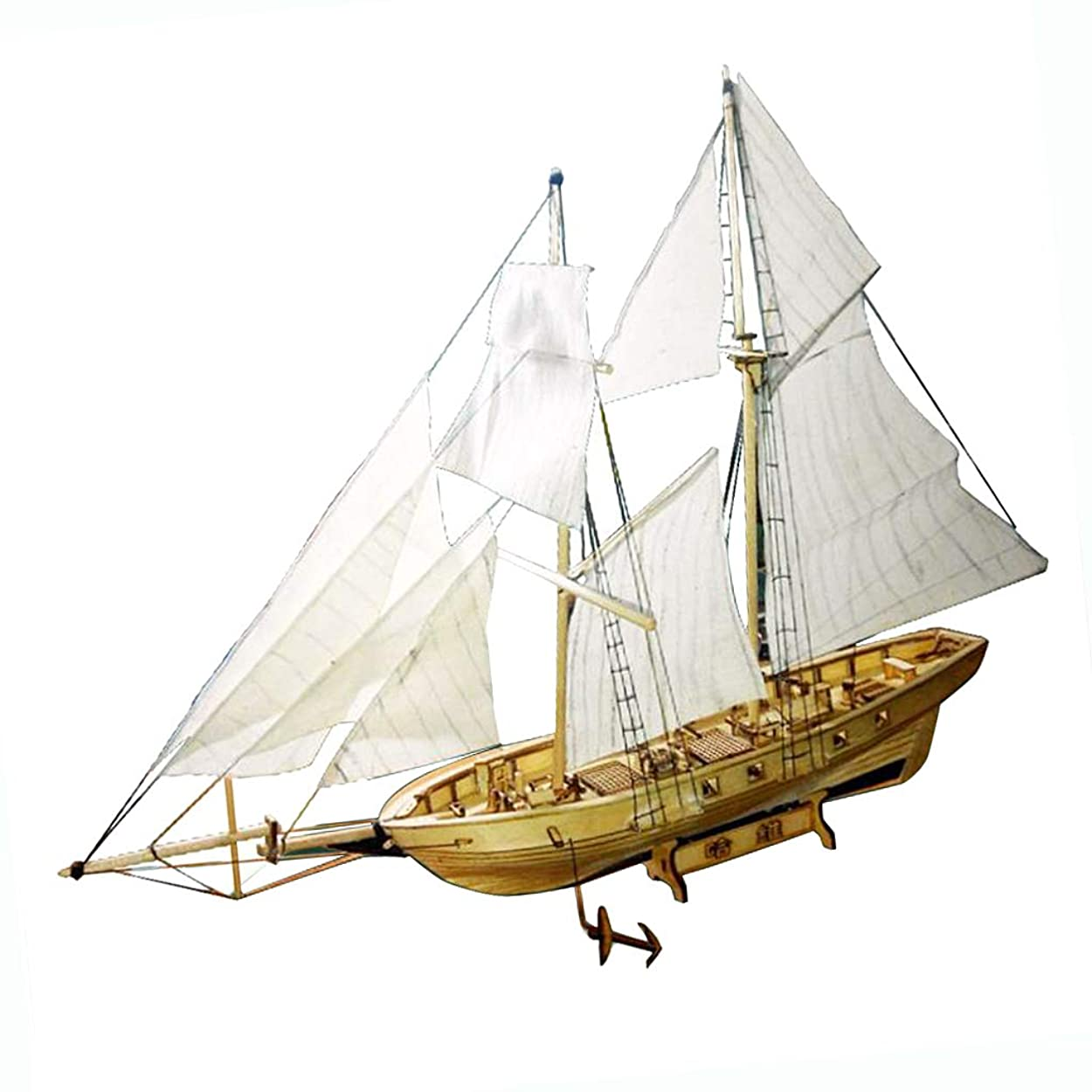 サイトライン前部貫通するKESOTO 木製 模型キット 帆船モデル 船模型 ボートモデル