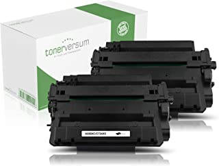 2x Toner Compatible con HP CE255X para HP lase LaserJet Enterprise 500MFP M525dn, M525F, P3015dn, P3015Series, Pro M521dn, M520Series | 55x | Negro | 12.500páginas