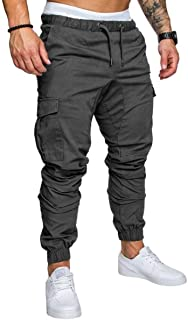 Vepodrau Men Military Cargo Pants Outdoor Combat Work Trousers with Pockets