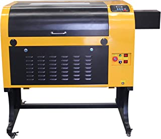 TEN-HIGH Upgraded Version CO2 400x600mm 80W 120V Laser Engraving Cutting Machine with USB Port