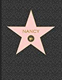 Nancy: Personalized Graph Composition Notebook, Quad Ruled 5 squares per inch, 9.75 in. x 7.5 in. (19 x 24.5 cm), Quad Ruled 5x5 Composition Notebook (Custom Graph Paper Composition Notebook)