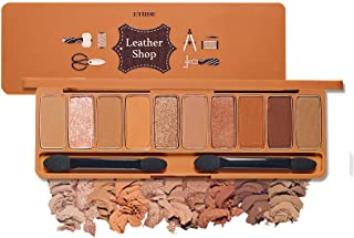 ETUDE HOUSE Play Color Eyes #Leather Shop | 10 Luxurious Leather Brown Colors with Shimmer & Glitter Texture | Korean Makeup