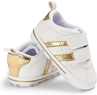 Geagodelia Neonato Scarpine Primi Passi Sneaker Bambini Bambina Scarpe Antiscivolo PU Pelle 0-18 Mesi