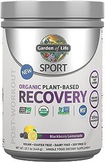 Garden of Life - 体育植物基础恢复黑莓柠檬水 - 15.7盎司
