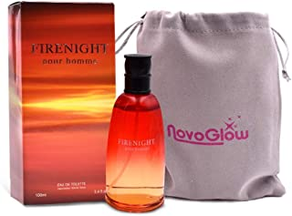 Firenight Pour Homme- Eau De Toilette Spray Perfume, Fragrance For Men- Daywear, Casual Daily Cologne Set with Deluxe Suede Pouch- 3.4 Oz Bottle- Ideal EDT Beauty Gift for Birthday, Anniversary