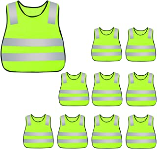 AIEOE Kids High Visibility Safety Vest Reflective Waistcoat 10/15/20 Pack