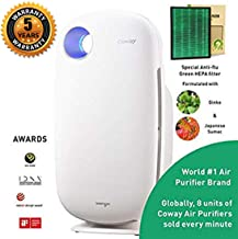 Coway Sleek Pro AP-1009 Air Purifier (Pre Filter, Patented Urethane Carbon Filter & Green Anti-flu True HEPA Filter) (Coway AP-1009): Home & Kitchen