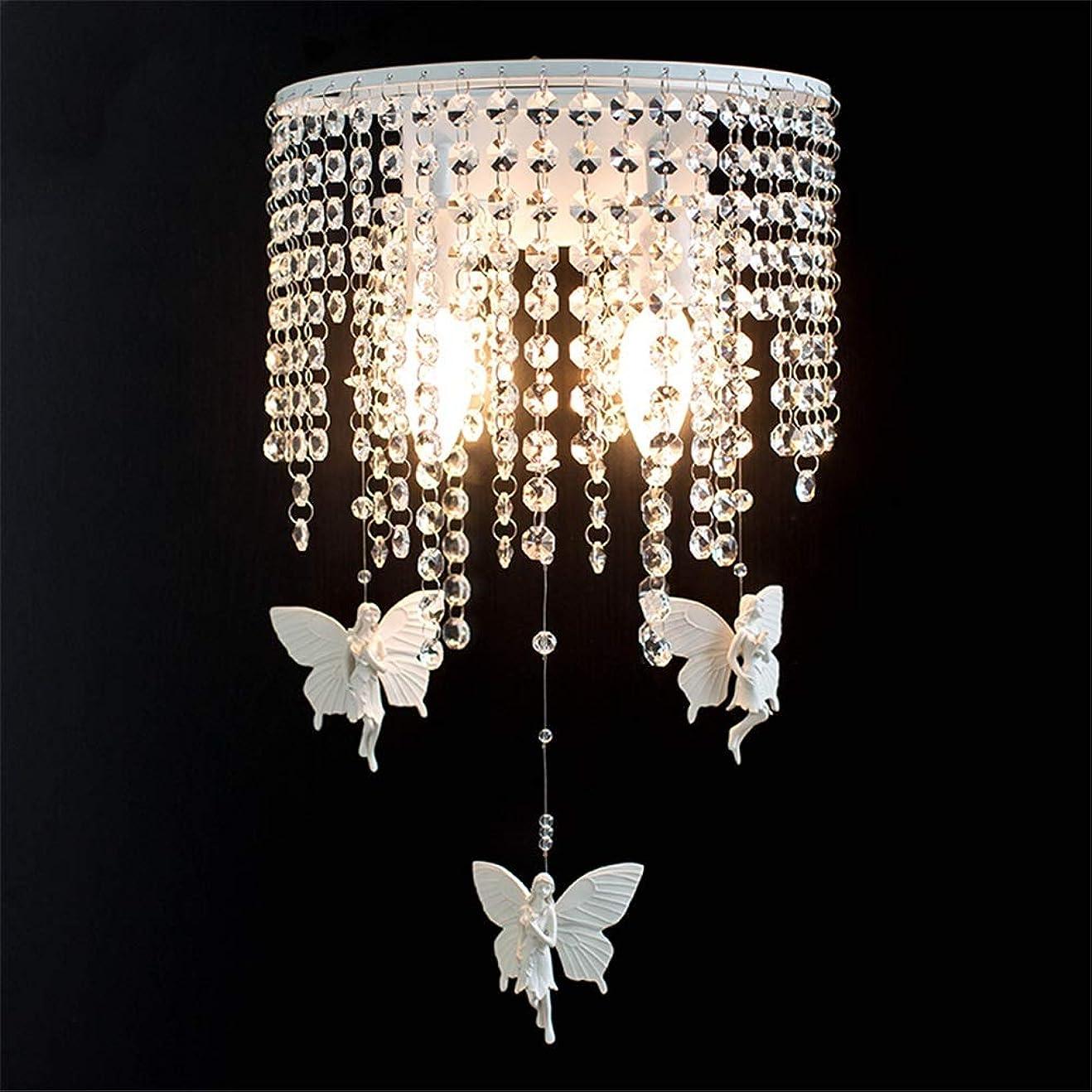 着替えるゆるくきつくウォールランプ 壁ランプの寝室モダンなミニマリストのリビングルームクリスタルランプ通路ランプ壁ランプ壁画ランプ創造的な階段ランプベッドサイドランプを飾る壁ライト (色 : 白, サイズ : 26*42cm)