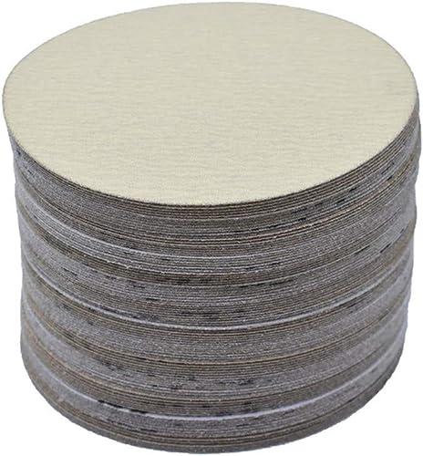 popular Hook Loop Pads Sanding Disc lowest 6-Inch NO-Hole 100Pcs Aluminum Oxide Round Flocking Sandpaper for Sanding Grinder Polishing Accessories (60 outlet online sale 80 120 180 240 320) Grit (120grit) online sale