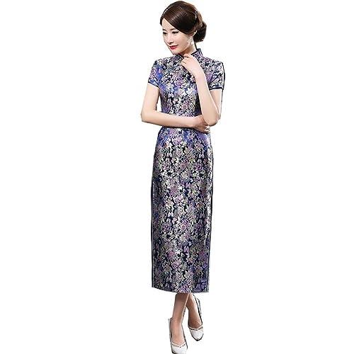 ee0a2ed87b6 Shanghai Story Long Chinese Wedding Dress Qipao Cheongsam Party Dress Gown