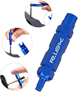 Valve Core Remover Removal Tool for Presta, Bicycle Tube Tire Valve Remove Repair Tools for MTB Road Bicycle Bike - Bule