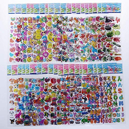 KATTERS Kids Stickers 3D Stickers For Kids, Bulk Stickers For Girl Boy Birthday Gift, Scrapbooking
