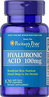 Puritans Pride Hyaluronic Acid 100 Mg-120 Capsules, 120 Count