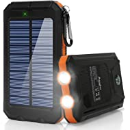 Ayyie Solar Charger,10000mAh Solar Power Bank Portable External Backup Battery Pack Dual USB...