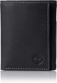 Timberland Trifold Wallet For Men -Leather, Black