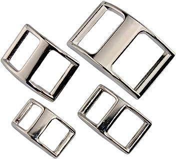 / nickel/é 2/x Licol Anneaux en laiton /Double//Double//argent/é//4/tailles