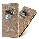 HongYong Flip Case for iPhone 6 Plus / 6s Plus,Bling Glitter [Magnetic Closure] PU Leather [Card...