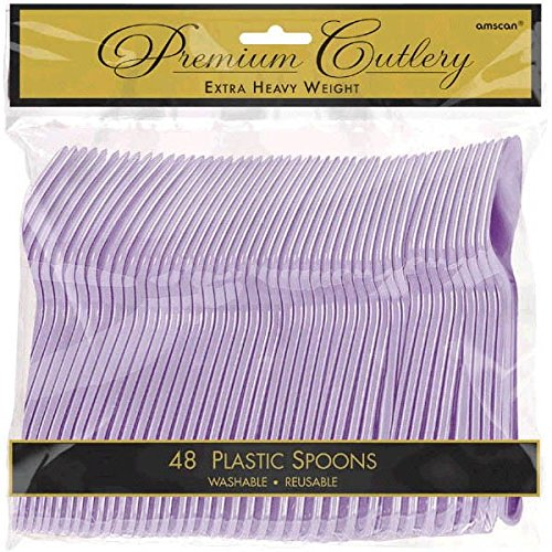 Amscan Premium Heavy Weight disposable-spoons, 9 x 9.2, Lavender