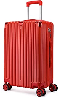 """Stylish and durable Wheels Travel Rolling Boarding,20"""" 22""""24"""" 26"""" Inch 100% Aluminium Spinner Aluminium Convenient Trolley Case,Super Storage Luggage Bag, high quality (Color : Red, Size : 22inch)"""