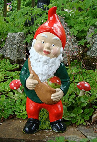 Pixieland Traditional Garden Gnome ~ Barnaby with his bag full or apples from the orchard