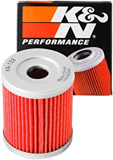 K&N Motorcycle Oil Filter: High Performance, Premium, Designed to be used with Synthetic or Conventional Oils: Fits Select Suzuki, Arctic Cat, Kawasaki Vehicles, KN-132