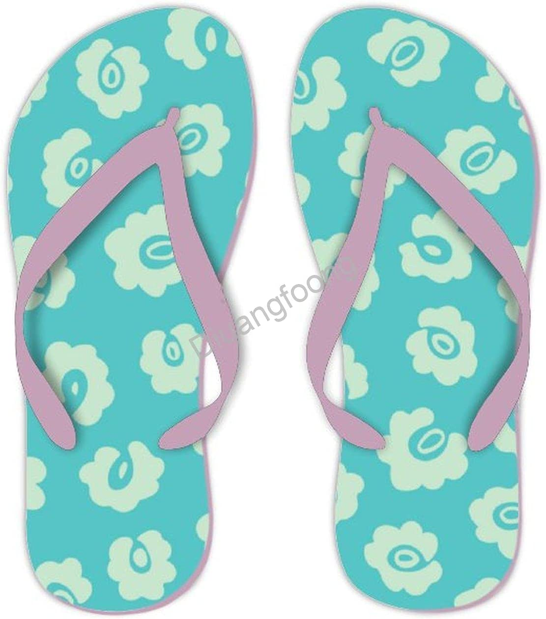 Leopard Flip Flops Comfortable Print Thong Sandals Pretty Sandal For Home Bathroom Party Pink Style6