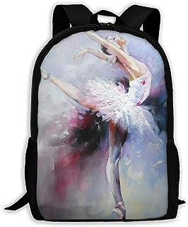 Hui-Shop Mochila de Viaje Mochila para portátil Mochila Grande para pañales - Mochila de Pintura de Ballet Mochila Escolar para Mujeres y Hombres