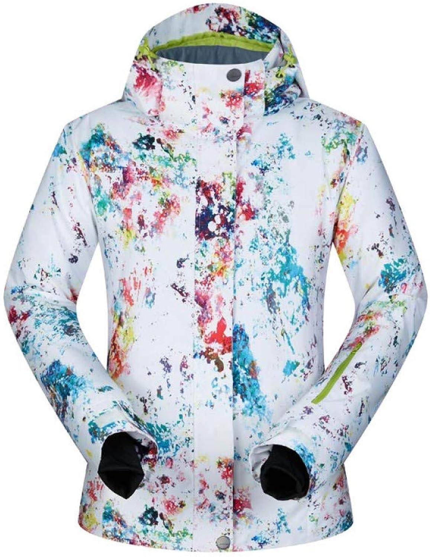 HAONUAN Ski Jacket Women Ski Jacket Waterproof Warm Snow Snowboard Jacket Thicken Outdoor Sport Wear Winter Skiing And Snowboarding Jacket