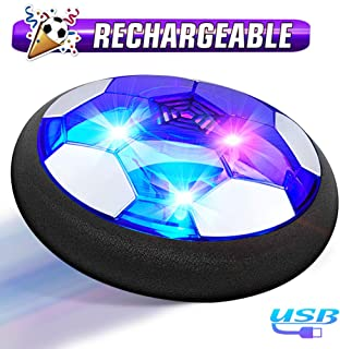 Hover Soccer Ball Boy Toys, Rechargeable Air Soccer Indoor Floating Soccer Ball with LED Light and Upgraded Foam Bumper Perfect Birthday Christmas Gifts for Kids Toddler Girls