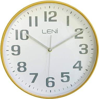 Leni 32000WHI Wood Wall Clock White