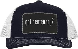 One Legging it Around got Centenary? - Leather Black Patch Engraved Trucker Hat