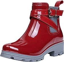 BODOAO Women's Rain Boots Short Boots Non-Slip Shoes Elastic Band Water Shoes