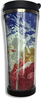 NiYoung Vacuum Insulated Tumbler Stainless Steel Water/Tea/Coffee Cup, Ink Art Philippines Flag Thermal Travel Mug for Ice Drink Hot Beverage