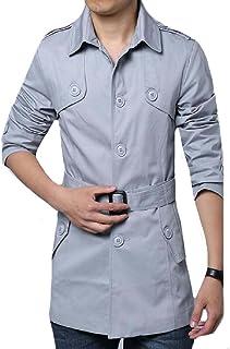 Mogogo Men's Modern Fit Fall Winter Windbreaker Handsome Overcoat