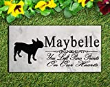 Broad Bay Personalized French Bulldog Memorial Stone Dog Pet Sympathy Gift Sign Garden Marker Outdoor Grave Headstone Plaque