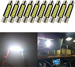 2 x Lampadina C5W 28mm 12V 24LED SMD Luce Bianco Effetto Xenon Aerzetix